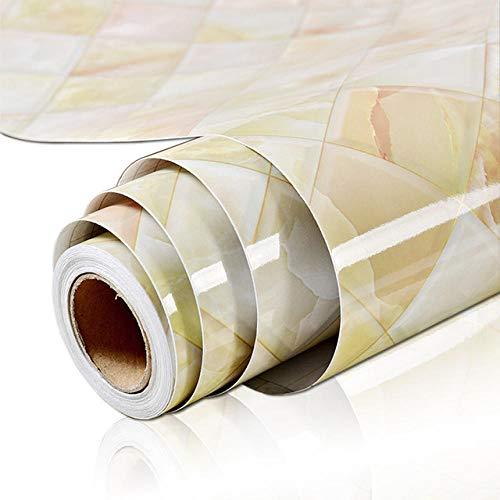 Adhesión a la autoadhesión de mármol a prueba de agua y a prueba de aceite-Red cristalina_60x100cm