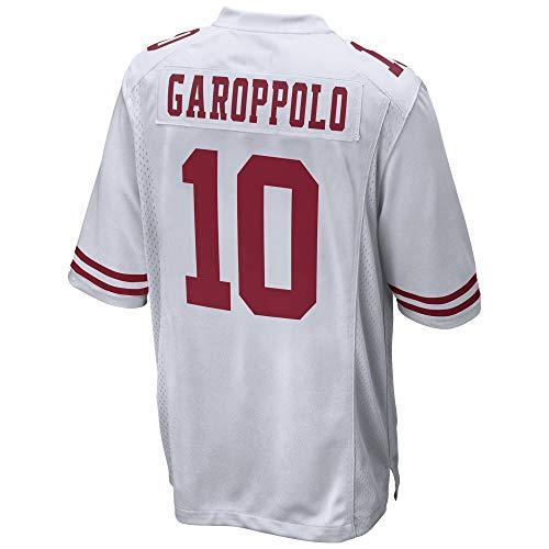 JEMWY Damen/Herren_Jimmy_Garoppolo_Weiß_Sportbekleidung_Fußball_Spiel_Jersey
