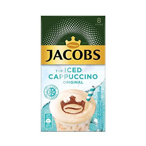 Jacobs Iced Cappuccino, 80 Sticks mit Instant Kaffee, 10 x 8 Getränke, 142 g
