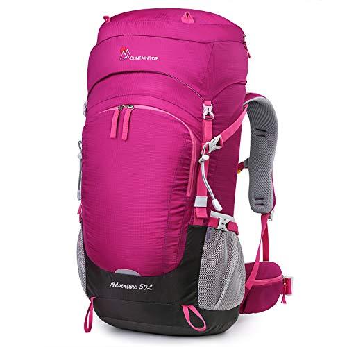 MOUNTAINTOP 50L Erwachsene Trekkingrucksäck Wanderrucksack Rucksack für Reisen Outdoor Klettern Camping, 67 x 30 x 24 cm