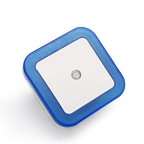 LED Night Light Mini intelligent crépuscule à l'aube Convient for capteur Chambre Salle de bains Cuisine Couloir Escalier Compact Veilleuse (Color : Blue)