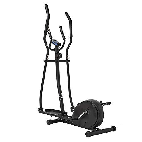 Home elliptische crosstrainer, magnetische cardiotraining met magnetische weerstand op 8 niveaus, tweewegs vliegwiel, consoleweergave met hartslagsensor en tablethouder.