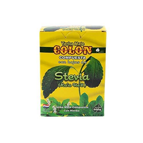 Colon - Yerba Mate Composé de Feuilles de Stévia - Produit Latin 100% Paraguayen - 500 g