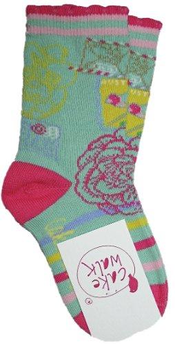 Cakewalk Mädchen-Socken ANJA, Gr. 19-22 in green