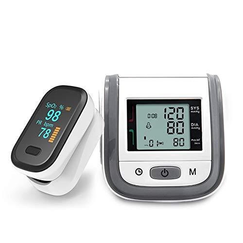 Vingertop Pulsoximeter & LCD Pols Bloeddrukmeter Family Travel Health Care Packages (Color : Gray)
