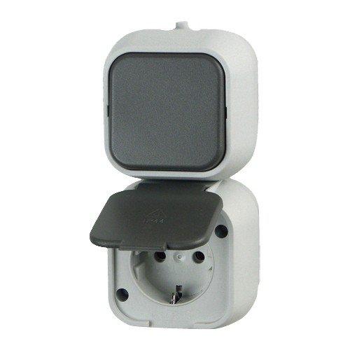 REV Ritter 0510236777 stopcontact/uit-wisselschakelaar, grijs