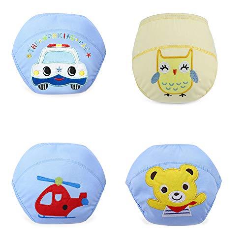 Tancurry Tancurry 4 Pcs Weich Baumwolle Trainerhose Windelhose Unterhose für Baby Jungen Mädchen
