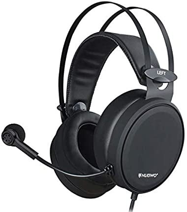 NUBWO 3.5 mm Jack Gaming/Ps4 N7 Stereo Xbox One Wired Over-Ear Headphones With Mic and Volume Control, Black