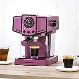 ECODE Cafetera Espresso Delice Purple, 20 Bares de Presión, Vaporizador Orientable, Depósito de...