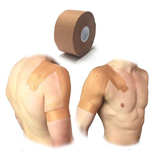 Steroplast – correas de tela de rayón, cinta de óxido de cinc, resistente, 4rollos premium para inmovilizar hombro/tobillo, 3,8cm x 13,7m