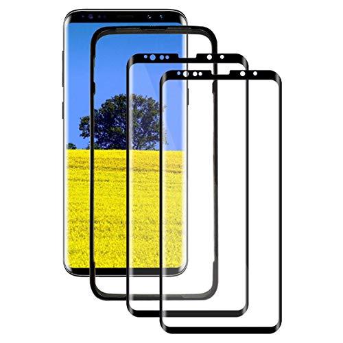 ZYUTON [2 Pezzi] Vetro Temperato per Samsung Galaxy S9, Pellicola Protettiva 3D Copertura Completa, HD Chiaro, Anti-Graffi, 9H Durezza, Senza Bolle