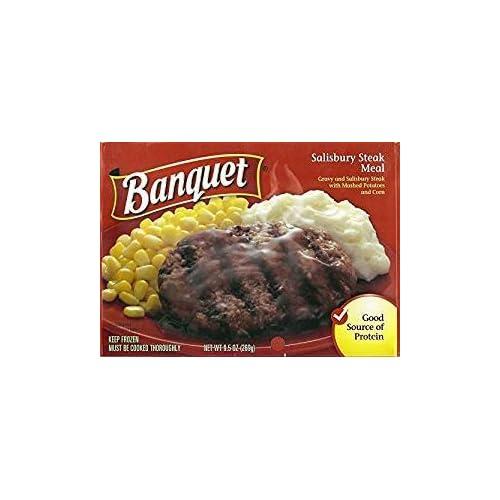 BANQUET FROZEN TV DINNER SALISBURY STEAK 9.5 OZ PACK OF 6