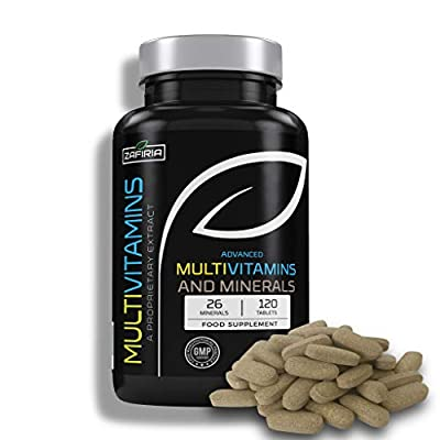 Advanced Multivitamins with 26 Key Minerals   Vitamin A D C and More  120 Tablets   UK Manufactured