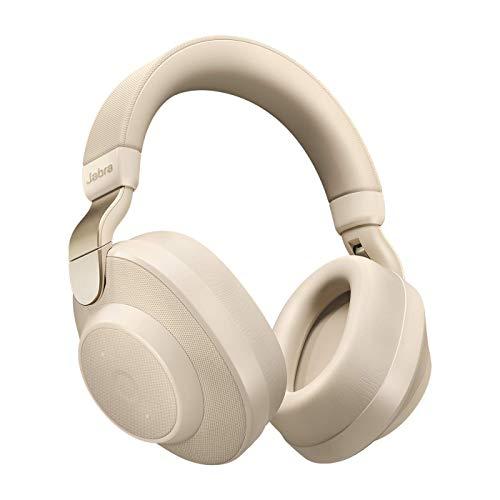 Jabra Elite Active 85h – Auriculares Inalámbricos Over-Ear, Cancelación Activa de Ruido, Batería de Larga Duración para Llamadas y Música, Beige Oro