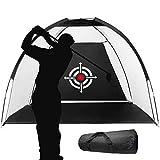ASENVER Golf Net Golf Hitting Net Training Aids Net Hitting Practice net with Target Carry Bag (Black, 6.6FT)