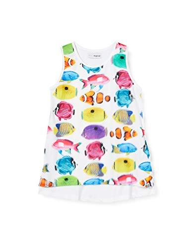 Desigual TS_Bolton T-Shirt, Bianco (Blanco 1000), 104 (Taglia Produttore: 3/4) Bambina