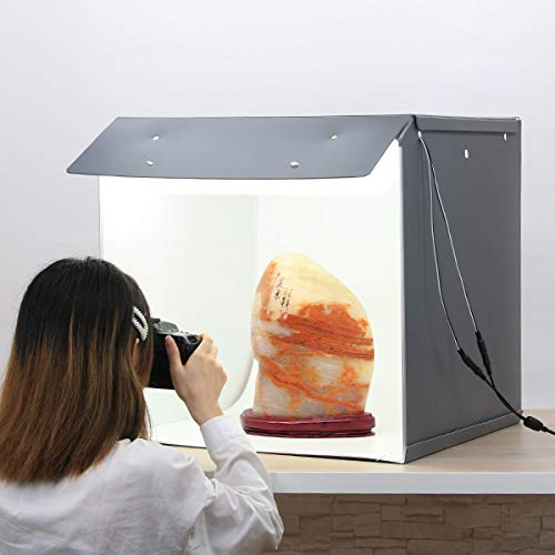 Portable Foldable Photo Studio Box with LED Light for Professional Photography,Super Bright Dimmable...