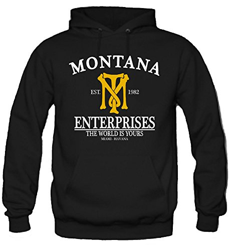 uglyshirt87 Montana Enterprises Kapuzenpullover | Mafia | Tony | Scarface | Al Pacino | Cocaine (M)