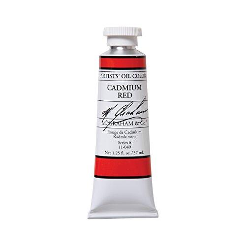 M. Graham Artist Oil Paint Cadmium Red 1.25oz/37ml Tube