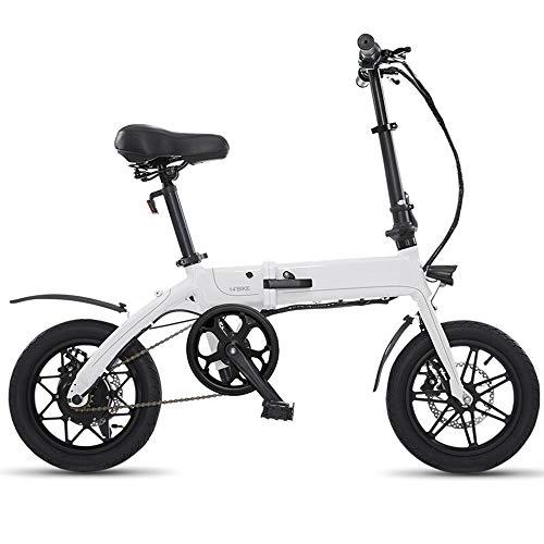 XMIMI Tipo Plegable Conducción Bicicleta eléctrica Hombres y Mujeres Scooter pequeño Mini...