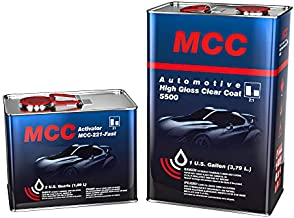 MCC 2K Clear Coat, Automotive Clear Coat, High Gloss Clear Coat 5500, 2:1, Easy Buffing, Long Durability and UV Resistance, Gallon Fast Kit, Chemical Resistant, Shine