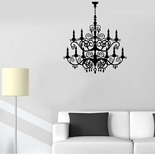 Kronleuchter Raumdekoration Beleuchtung Haus vinyl wandtattoo aufkleber wohnkultur diy kunst wandbild tapete 57x66 cm