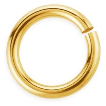 500 or 1,000 BULK pcs 9 mm Gold Plated Open Jump Rings-US Seller GL076 100