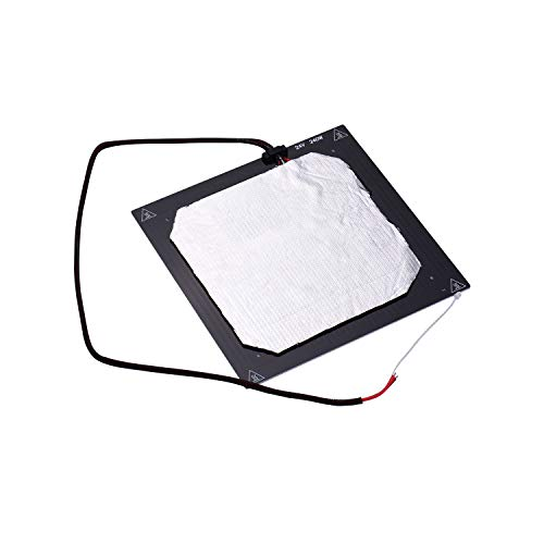 Fesjoy Hotbed, Hot Bed, 24V 3D Printer Heated Bed Hotbed Heating Platform Aluminum Plate 310 * 310mm with Hotbed Wire Insulation Connton Compatible with Creality CR-10/CR-10S TEVO Tornado 3D Printer