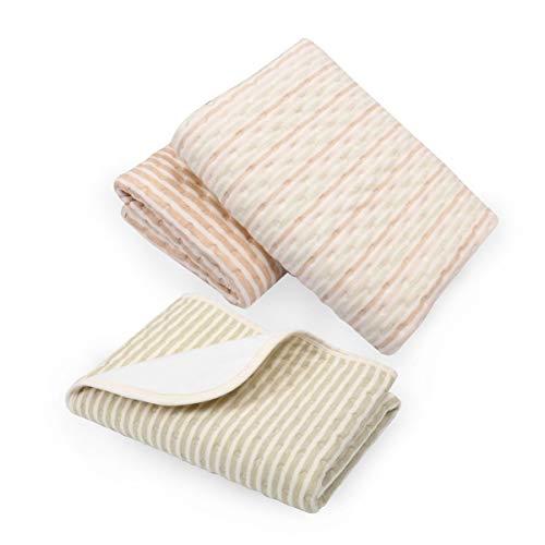 Wickelunterlage, Yworld Baumwolle Bambusfaser atmungsaktiv wasserdicht Wickelunterlagen waschbar wiederverwendbare Windeln Liner Matten (braun)
