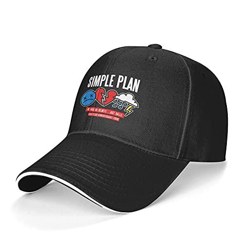 Verstellbar Damen Herren Simple Plan Black Baseball Hat Cap Baseballcap Kappe Mütze Für Jugend Jungen Mädchen