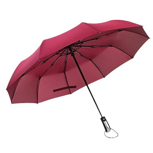 pzcvo Windproof Umbrella Travel Umbrella Windproof Umbrella Compact Childrens Umbrellas Umbrella Windproof Beach Umbrella Uv Protection Womens Umbrella Wine Red,One Size