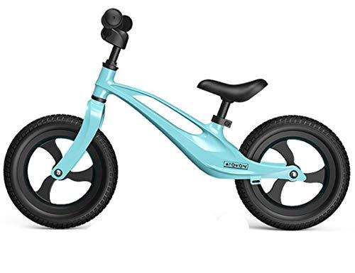 OUYA Bicicleta de Equilibrio, Ligera, sin Pedales, para niños, para niños de 2 a 6 años, Scooter de Aprendizaje, Bicicleta para niños, para niñas y niños,Azul