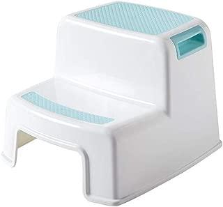 踏み台 キッズステップ ツーステップ 2段 滑り止め付 子供用 トイレ トレーニング 椅子 プラステック ライトブルー