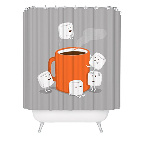 Marshmallow Cannonball Shower Curtain / Hot Chocolate Shower Curtain / Hot Cocoa Art / Fabric Shower Curtain / Made in USA / Great Decoration Gift for Bathroom
