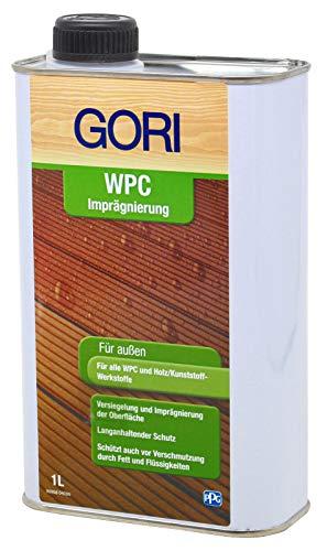 Gori 1L WPC Imprägnierung Pflegt und Schützt WPC und BPC langanhaltend vor Wettereinflüssen Fett und Flüssigkeiten