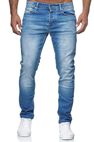 MERISH Jeans Herren Slim Fit Jeanshose Stretch Denim Designer Hose (34-34, 504-2 Hellblau)