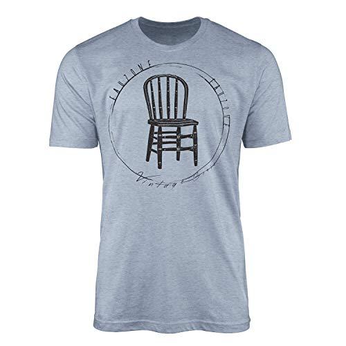 T-Shirt Vintage Holzstuhl - angenehmer feine Struktur und sportlicher Schnitt
