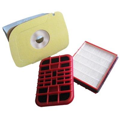 Spar-Set geeignet für Lux 1, 10 Staubsaugerbeutel + 1 Hepafilter + 1 Aktivkohlefilter
