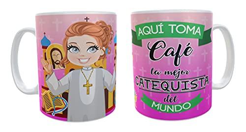 Los Eventos de la Tata. Taza Mi primera Comunión, regalos para Catequistas (Mujer)