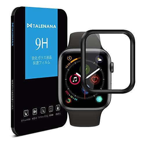 TALENANA Apple Watch Series 4 ガラスフィルム 40mm アップルウォッチ シリーズ 4 全面保護フィルム ガラ...