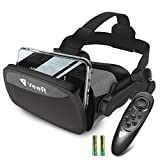 VeeR Falcon VR Headset with Controller, Universal Virtual Reality Goggles to Comfortable Watch 360 Movies for Android, Samsung Galaxy S9 & Note 9, Huawei and iPhone XR & Xs Max