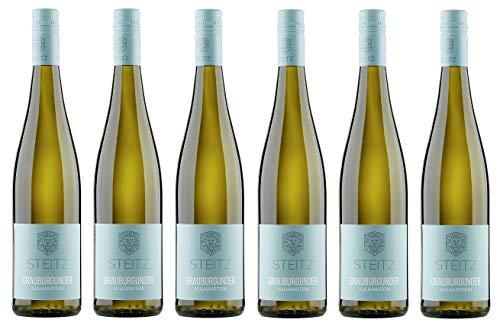 6x 0,75l - 2018er - Weingut Steitz - Grauburgunder - Vulkangestein - Rheinhessen - Deutschland - Weißwein trocken