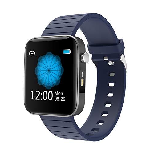 YNLRY Relojes inteligentes Monitor de frecuencia cardíaca, seguimiento de la actividad física, medición de la temperatura corporal, SmartWatch VS P8, reloj inteligente (color azul, tamaño: 2 unidades)