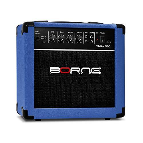 Amplificador Cubo para Guitarra Strike g30 15w - Azul Borne