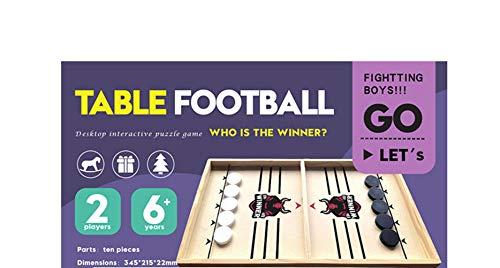 N\A Holztische Familienspiele Brettspiel Hockey Tisch Desktop Kampfspielzeug Für Erwachsene Eltern-Kind Interaktives Schachspielzeug Brettspiel klein/Die Neue Bullenkarte
