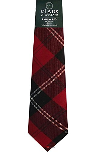 I Luv Ltd Ramsay Red Clan 100% Wool Scottish Tartan Tie