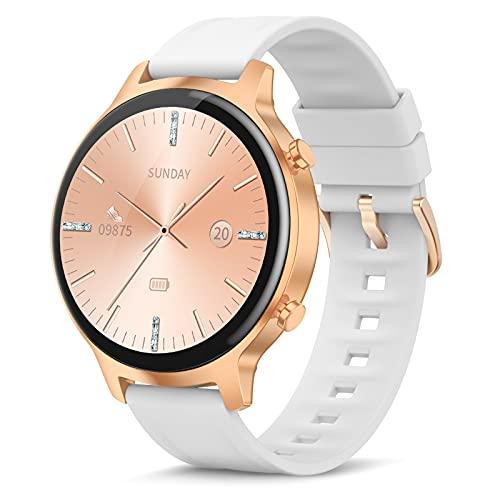 Smartwatch,1,3 Zoll Armbanduhr mit personalisiertem Bildschirm,Weiblicher Gesundheits Tracker IP68 Wasserdicht Fitness Tracker Uhr, für iOS und Android,Smart Watch für Damen Herren