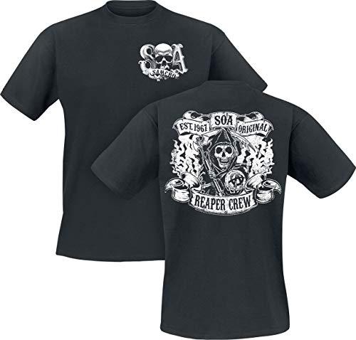 Sons of Anarchy Reaper Crew Männer T-Shirt schwarz M 100% Baumwolle Biker, Fan-Merch, TV-Serien