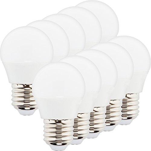 Müller-Licht 10er-Set LED Lampe Tropfenform Essentials - 3 W ersetzt 25 W - E27 - 2700 K - Kunststoff - weiß