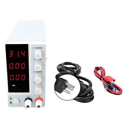 Fuente de alimentación Regulada por CC, Nps-3010w Conmutación ajustable digital Fuente de alimentación regulada por CC con pantalla de alimentación para reparación de equipos de laboratorio(US)